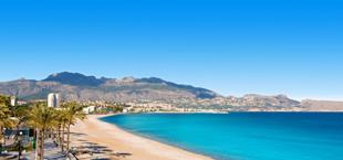 Playa de albir vlakbij Alicante in Andalusië