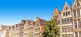 Typische Antwerpse huizen in Antwerpen