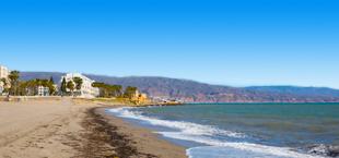 Strand aan de Costa Almeria Spanje