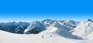 Besneeuwde bergen in Frankrijk