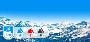Skigebied Kandertal besneeuwde bergtoppen Zwitserland