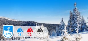 Winterlandschap met bergen Duitsland