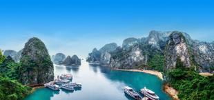 Ha Long Bay uitzicht in Vietnam