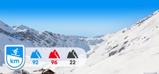Skipiste in skigebied Adelboden Lenk Zwitserland