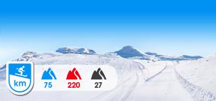 Skipiste in Zermatt skigebied Zwitserland