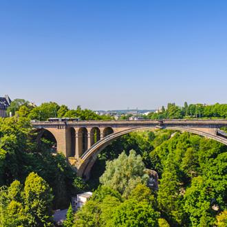 Adolphe brug in de stad Luxemburg