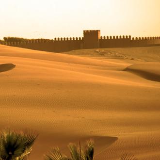 Zandwoestijn in Marokko