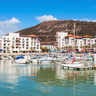 Jachthaven in Agadir aan de Atlantische Oceaan