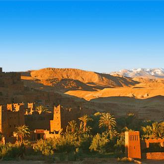 Woestijndorp Ait Benhaddou Ksar Kasbah Marokko