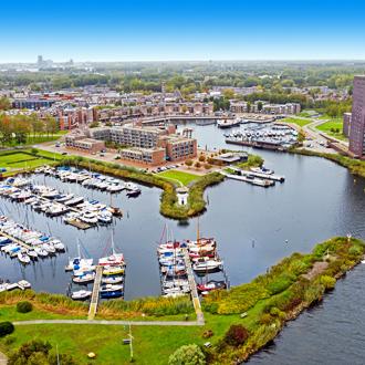 Luchtfoto van Almere stad