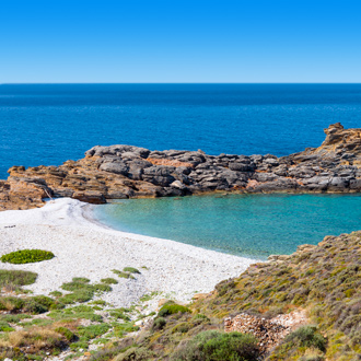 Almiros Beach in Roda op Corfu