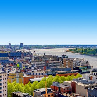Uitzicht op de stad Antwerpen