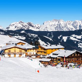 Apres-ski in Saalbach Hinterglemm, Oostenrijk