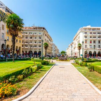 Aristoteles plein in Thessaloniki, Griekenland