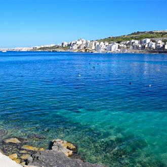 Een baai naar St, Pauls Bay op Malta