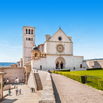 Basiliek St. Franciscus in Assisi, Umbrië, Italië