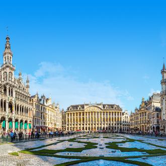 De grote markt in Brussel in Belgie