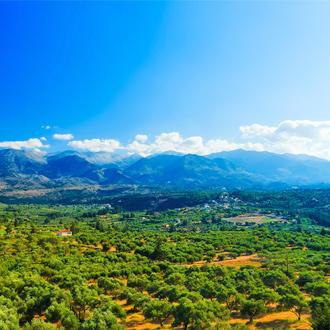 Natuurlandschap met bergen in Chania op Kreta, Griekenland
