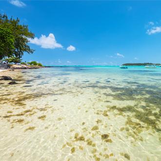 Natuurreservaat Blue Bay Marine Park aan de zuidkust van Mauritius