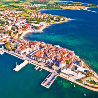 Bovenaanzicht van Umag, Istrië, Kroatië