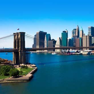 De Brooklyn Bridge naar Manhattan New York
