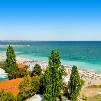 Uitzicht op de Golden Sands in Bulgarije