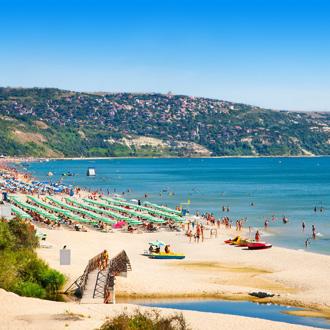 Goudstrand aan de Zwarte Zee in Bulgarije