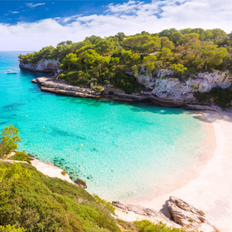 Cala Llombards Santanyi strand in Mallorca, Spanje