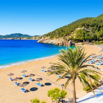 Cala San Vicente strand op Ibiza