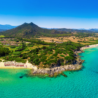 Cala sinzias beach, dichtbij Costa Rei op Sardinië, Italië