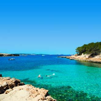 Het strand van Cala Gracioneta in San Antonio Ibiza