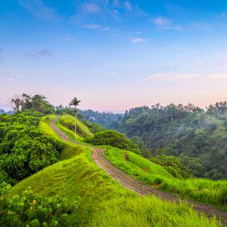 Wandelpad de Campuhan Ridge Walk in Ubud op Bali, Indonesie