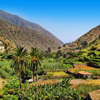 Natuur op La Gomera, op de Canarische eilanden.