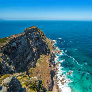 De Cape Point en de helderblauwe zee in Kaapstad