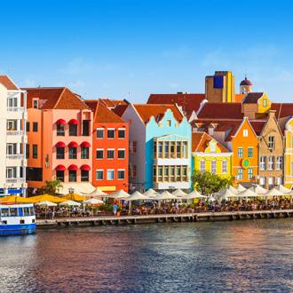 Kleurrijke huizen van Willemstad, Curacao
