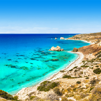 Aphrodite strand in Cyprus