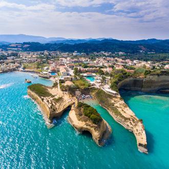 Damour strand in Sidari, Corfu, Griekenland