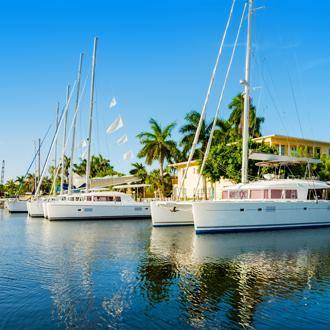 De Fort Lauderdale Intracoastal Waterweg langs Las Olas Boulevard