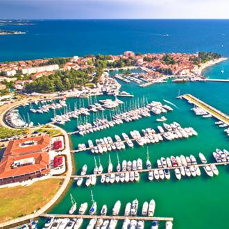 De haven van Novigrad, Istrië, Kroatië