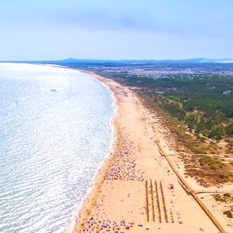 Kuststrook van de stranden Altura en Monte Gordo, Portugal