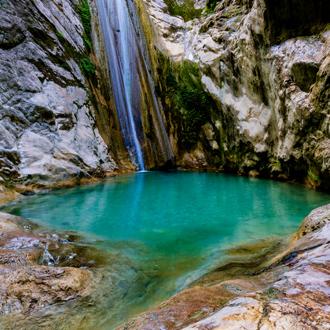 De mooie watervallen van Nidri op Lefkas