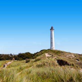 Vuurtoren aan de Deense kust