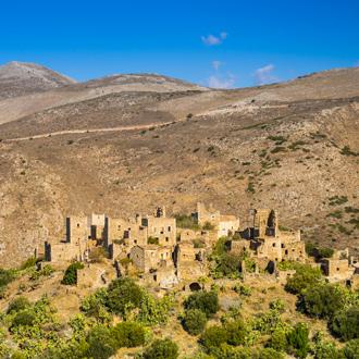 Dorpje Vathia met torenwoningen in Peloponnesos