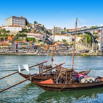 Rivier Douro Porto met een vissersboot