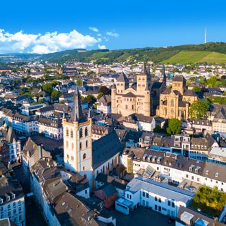 Panorama uitzicht op de Duitse stad Trier