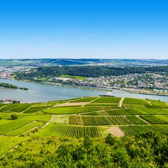 Rivier de Rijn in Duitsland