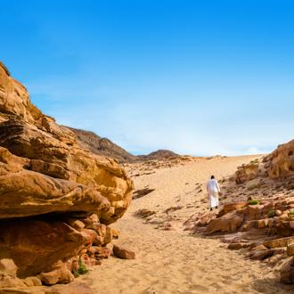 Gekleurde kloof in Egypte