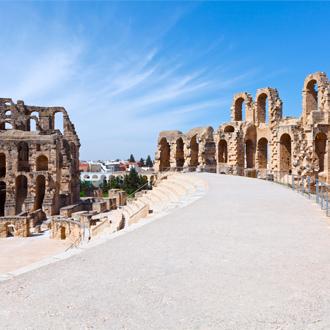 Het monument El Djem in Mahdia, Tunesie