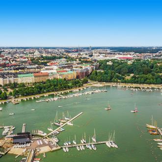 Uitzicht op de hoofdstad van Finland, Helsinki