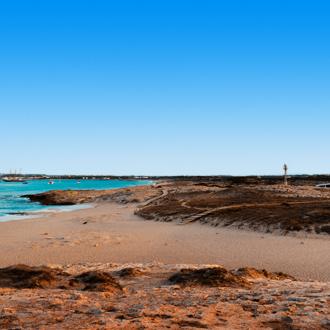 Oevers op het Spaanse eiland Formentera